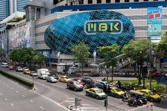 BANGKOK, AUG - 25: MBK zakupy sławny centrum handlowe w Tajlandia, o Zdjęcia Royalty Free