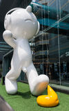 BANGKOK, AUG - 25: MBK zakupy sławny centrum handlowe w Tajlandia, o Obrazy Stock