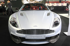 BANGKOK - August 19: Aston Martin Vanquish Coupe car on display Royalty Free Stock Image