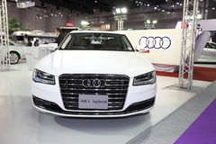 BANGKOK - August 4: Audi A8 L Hybrid car on display at Big Motor Stock Image