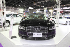 BANGKOK - August 4: Audi A8 L Hybrid car on display at Big Motor Stock Photo