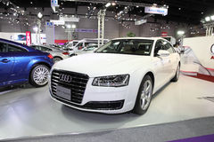 BANGKOK - August 4: Audi A8 L Hybrid car on display at Big Motor Stock Photos