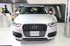 BANGKOK - August 19: Audi Q3 2.0 TDI quattro car on display at B Royalty Free Stock Images