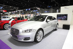 BANGKOK - August 4: Jaguar XJ car on display at Big Motor sale o Stock Photo