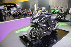 BANGKOK - August 4: Kawasaki ninja 1000 motorcycle on display at Stock Images