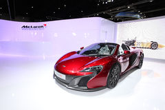 BANGKOK - August 19: Mclaren 650s car on display at Big Motor sa Royalty Free Stock Photos