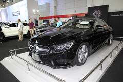 BANGKOK - August 4: Mercedes Benz S-Class Co[pe car on display a Royalty Free Stock Images