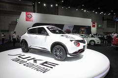 BANGKOK - August 4: Nissan Juke Tokyo Edition  car on display at Royalty Free Stock Photography