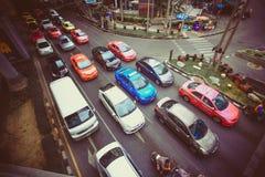 BANGKOK 2 August 2014 Traffic moves slowly along a stock photography