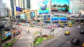 BANGKOK 3 august 2014, Traffic on road  in Bangkok. Traffic on road  in Bangkok, Thailand stock video