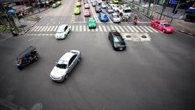 BANGKOK 3 august 2014, Traffic on road  in Bangkok. Traffic on road  in Bangkok, Thailand stock video footage