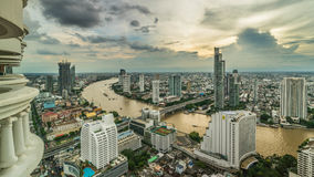 Bangkok - August 27 : view from the state tower 49 th floor in t. He twilight time on August 27, 2017 Stock Images