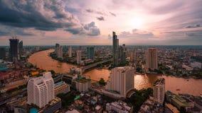 Bangkok - Augusti 27: sikt från det statliga thgolvet för torn 49 i t Royaltyfri Fotografi
