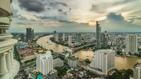 Bangkok - Augusti 27: sikt från det statliga thgolvet för torn 49 i t Arkivbilder