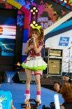 BANGKOK - AUGUSTI 30: Tanaka Reina (Vocals ledare) från LoVendor Royaltyfri Bild