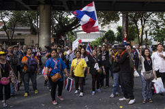 Bangkok avstängning: Januari 14, 2014 Royaltyfri Bild