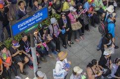 Bangkok avstängning: Januari 13, 2014 Royaltyfria Bilder