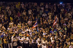 Bangkok avstängning: Januari 13, 2014 Fotografering för Bildbyråer
