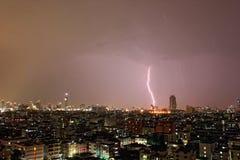 Bangkok błyskawica zdjęcie royalty free