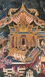 2014 in Bangkok, Bangkok, THAILAND - MEI 5: Oude Thaise muurschildering Stock Fotografie