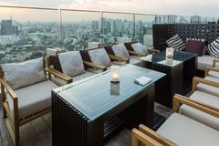 Bangkok bar rooftop Royalty Free Stock Photography