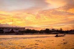 Bangkok, beautiful dramatic sunset Royalty Free Stock Images