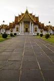 bangkok benchamabophittempel thailand Arkivbilder
