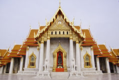bangkok benchamabophittempel thailand Arkivbild
