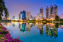 Bangkok an Benjakiti-Park Stockbild