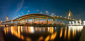 bangkok bhumibolbro thailand Royaltyfri Fotografi