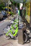 Bangkok bicycle for rent service station Royalty Free Stock Photos