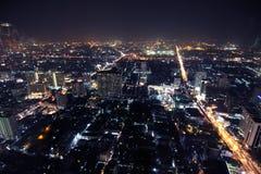 Bangkok bij de schemer Stock Foto