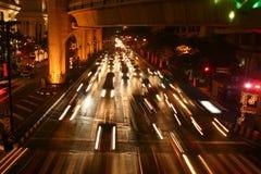 Bangkok bij Nacht Stock Afbeeldingen