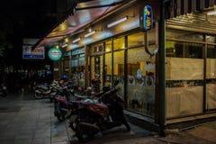 Bangkok bij nacht, 2013 stock foto's