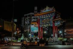 Bangkok bij nacht, 2013 royalty-vrije stock afbeeldingen