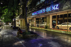 Bangkok bij nacht, 2013 stock foto
