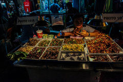 Bangkok bij nacht, 2013 stock afbeelding