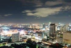 Bangkok bij nacht Royalty-vrije Stock Afbeeldingen