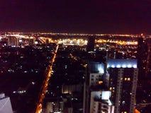 Bangkok bij nacht Stock Foto