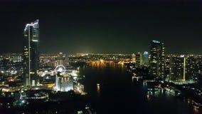Bangkok bij nacht Royalty-vrije Stock Foto