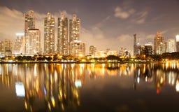 Bangkok bij schemering Stock Fotografie
