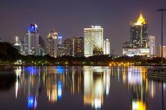 Bangkok bij schemering Stock Afbeelding