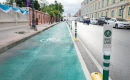 Bangkok Bike Lane Stock Photo