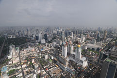 Bangkok -  bird's eye panorama Royalty Free Stock Photos