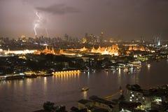 bangkok blixt thailand Arkivbild