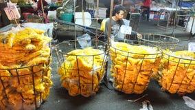 Bangkok blommamarknad Arkivbild