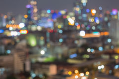 Bangkok blurred abstract background lights Stock Images