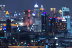 Bangkok blurred abstract background lights Stock Image