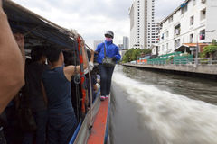 Bangkok Boat service Stock Photo