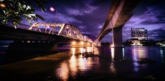 Bangkok bro och bro för rama 3 Fotografering för Bildbyråer